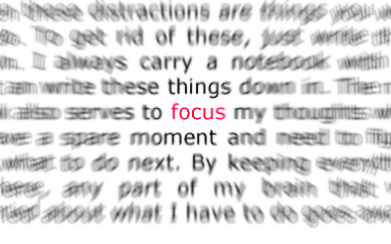 focus-on-an-idea
